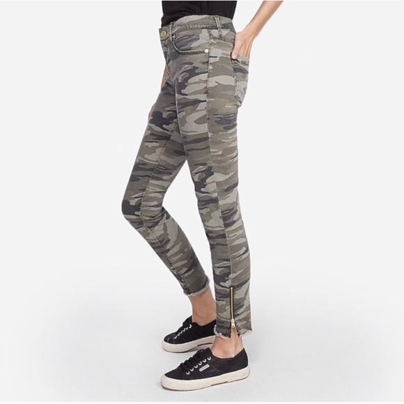 Express Denim - Express Camouflage Skinny Ankle Legging Jeans